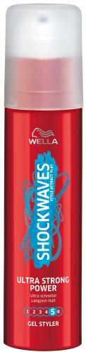 Wella Shockwaves Power Gel Styler Ultra Strong, 3er Pack (3 x 100 ml)