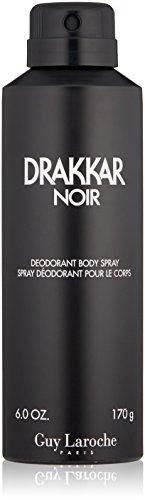 Drakkar Noir by Guy Laroche Body Spray for Men - Top Notes of Lavender, Lemon, and Mandarin - Heart Notes of Warm Spices, Coriander, Juniper - Base Notes of Cedar and Vetiver - 6 oz