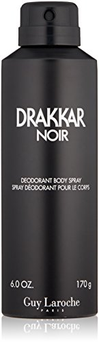 Guy Laroche Drakkar Noir Deodorant Body Spray, 6.0 Oz