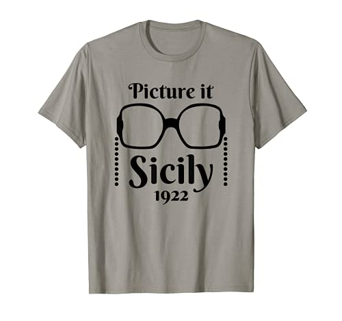Imagínelo ... Sicily 1922 Diseño de cita de estilo de Camiseta