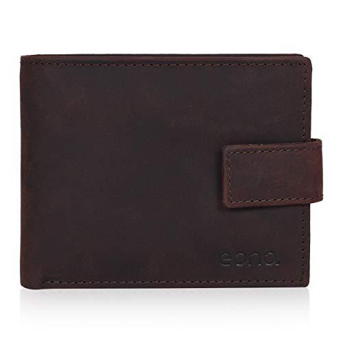 Eono por Amazon 7 - Cartera de piel para tarjetas de crédito, con 2 bolsillos para tarjetas de crédito y monedas.