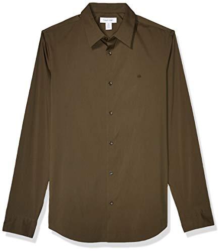Calvin Klein Hombre 401W117 Camisa con Botones