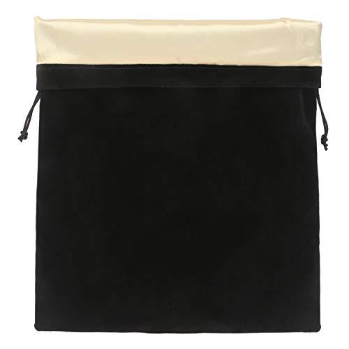 Haartrockner-Tasche, Segbeauty-Aufbewahrungstasche Stain Liner Drawstring Velvet Pouch 11.8x15.7inch Schwarz Sporttasche Bekleidungsorganisator für Diffusor, Glätteisen, Kleidung