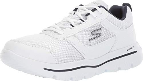 Skechers Men's GO Walk Gowalk Evolution Ultra-Enhance Sneaker, White/Navy, 10.5...