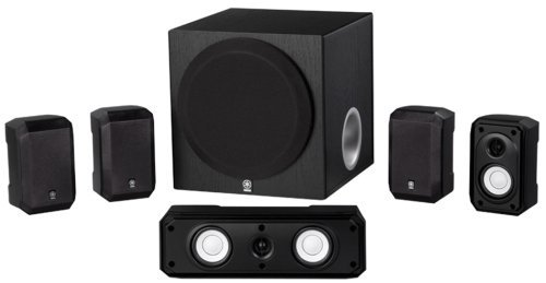 Yamaha NS-SP1800BL 5.1-Channel Home Theater Speaker System (Renewed)