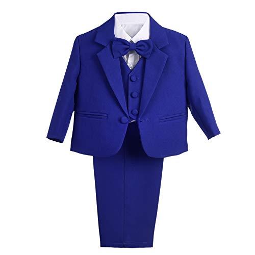 Lito Angels Baby-/Jungen-Outfit, 5-teiliger Anzug für Hochzeit, Taufe Gr. 92, königsblau