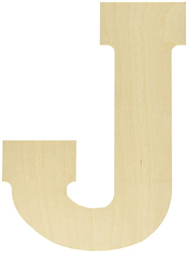 Baltic Birch Collegiate Font Letters & Numbers 13', J