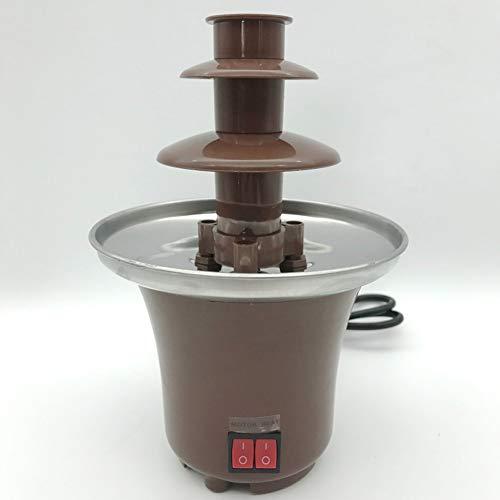 Uniquel Zuhause Schokoladen Brunnen, Mini Schokobrunnen Rostfreier Stahl Fondue mit Elektrischem Thermostat zum Eintauchen Banana Strawberry Marshmallow Kapazität 300g