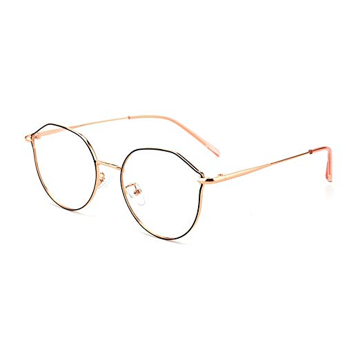 Blauw ondoorzichtige bril, metalen rond veld oogbescherming anti-vermoeidheid UV gepolariseerde klassieke anti-blauw licht platte glazen multicolor optioneel voor een beter werk en een betere levensduur.
