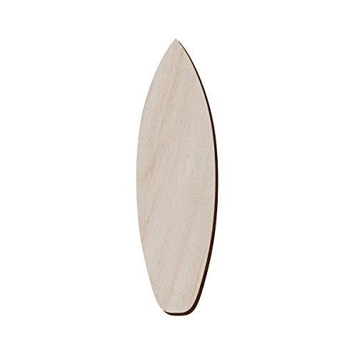 Juego de 10 tablas de surf de madera para manualidades y decoración, pendientes de tabla de surf – collar de tabla de surf – colgante de tabla de surf, 3.8x12.7 cm