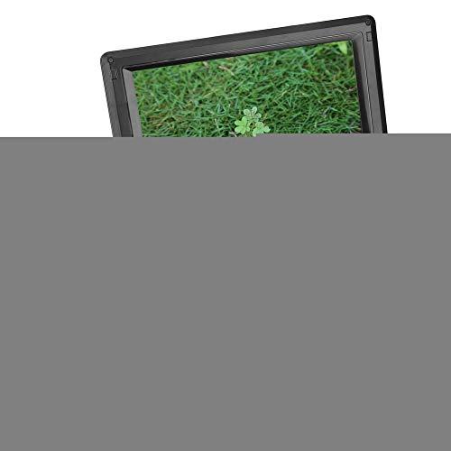 9,8 inch lcd dvd-speler, draagbare 3-in-1 hd dvd-speler (dvd / tv / FM-radio-ontvanger), zwarte vcd dvd-cd-speler die 270 graden kan worden gedraaid Huis, kantoor en auto (EU)