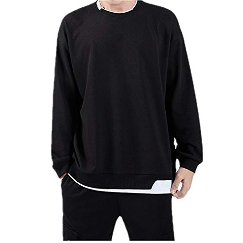 Jersey de punto de manga larga de primavera para hombres con cuello redondo casual Pullover