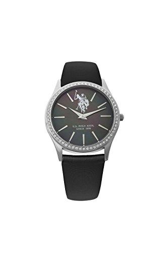 US Polo Association Reloj Analógico para Hombre de Cuarzo con Correa en Cuero USP5249BK