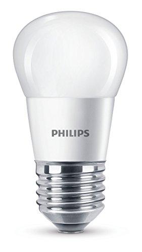 Philips 8718696505786 A+, LED-Leuchtmittel, Plastik, 5.5 W, E27, matt weiß, 4.5 x 4.5 x 8.7 cm