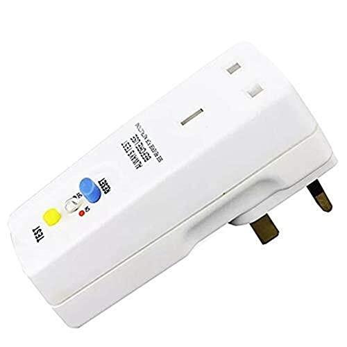 Auoeer Enchufe del Reino Unido 13A GFCI Conecte de Fuga RCD SOCKER Circuito CUITO DE Interruptor DE Potencia DE Potencia DE Potencia - Conecte del Reino Unido