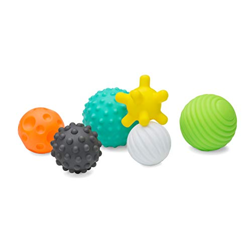 Infantino Textured Multi Ball Set - Textured Ball Set Toy for Sensory...