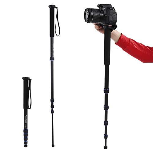 Monopod voor camera, 165 cm / 65 inch monopod-basis van aluminiumlegering met anti-stofvergrendelingssysteem voor spiegelreflexcamera / camcorder-video, met opbergtas