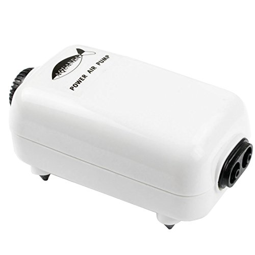 AQUANEAT Aquarium Air Pump Adjustable 65GPH with Accessories 2 Outlets up to 50Gal Fish Tank