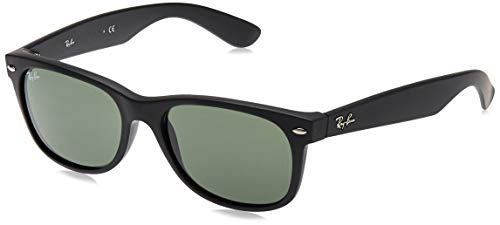 Ray-Ban New Wayfarer, Gafas de Sol Unisex adulto, Negro (Matte Black 622), 52 mm