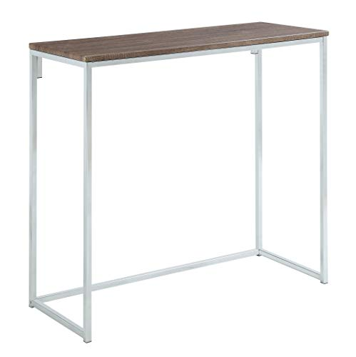 Abington Lane Modern Console - Accent Table for Entryway, Hallway, Living Room - (Faded Hickory Finish)