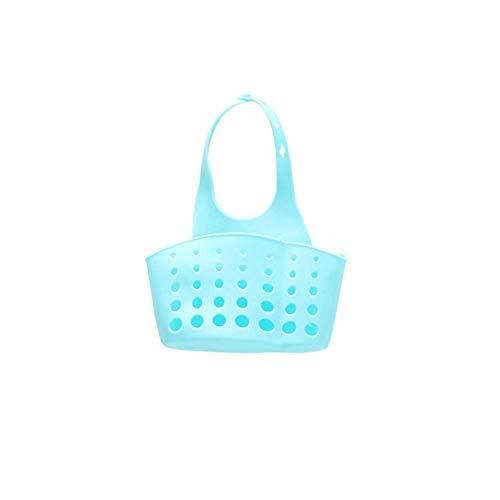Vobor Lebensmittelgeschäft Sponge Sink Holder - Silikon Wasserhahn Hängen Sponge Sink Bag Küchenhelfer Storage Organizer (Farbe : Blau)