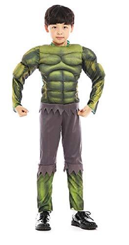 Kinderkostüm Superhelden grün Muskel - Unglaublich - Farbe grün - Jungen - Karneval - Cosplay - Halloween - Verkleidung Taglia M - 4-5 anni grün