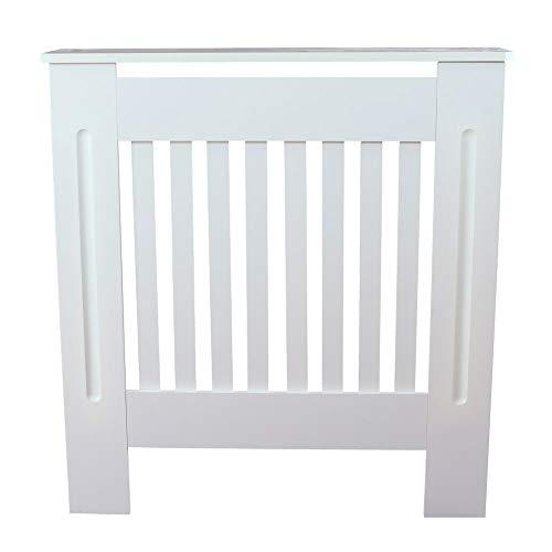 saiwhale kabinet Radiator, wit eenvoudig traditioneel ontwerp geventileerde E1 MDF Board verticale streep patroon Radiator Cover voor woonkamer/slaapkamer/keuken - S