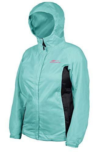 Grundéns Women's Weather Watch Hooded Fishing Jacket, Pool Blue - X-Small