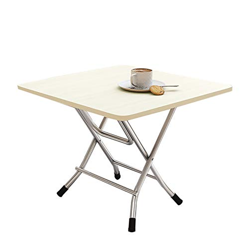 XIAOQIAO Wooden Folding Table,Computer Notebook Wooden Desk Table,Portable Camping Table , Indoor and Outdoor Picnic Dining Barbecue Table (Color : White)