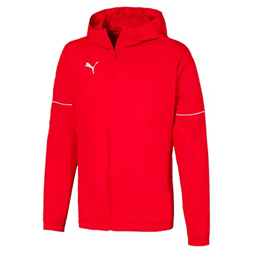 PUMA Herren teamGOAL Rain Jacket Core Regenjacke, Red White, M