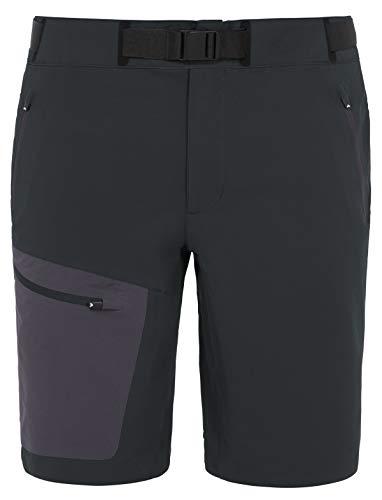 VAUDE Herren Hose Men's Badile Shorts, Kurze Softshellhose für den Bergsport, 80 % winddicht, black, 56, 046300100560