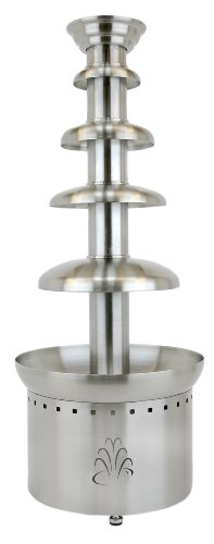 Big Sale Best Cheap Deals Buffet Enhancements Stainless Steel 4 Tier 40 Inch Chocolate Fountain