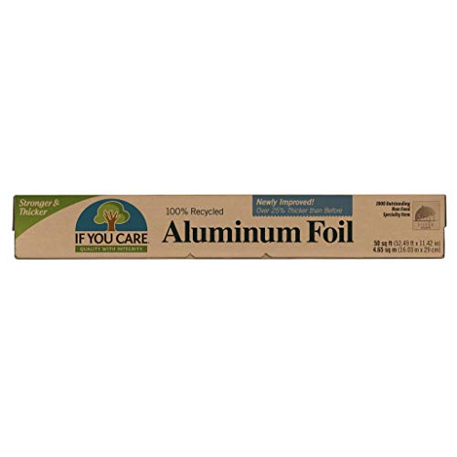 If You Care Aluminum Foil– Pack of One 50 Sq. Ft. Roll - 100% Recycled Tin Foil Kitchen Wrap