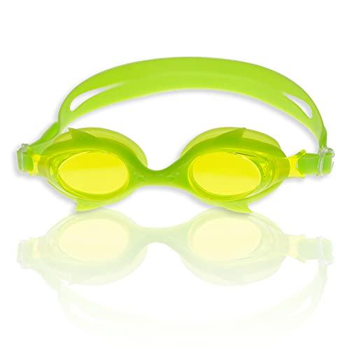 RABIGALA Gafas de natación polarizadas, cómodas, antivaho, protección UV, gafas de natación Clear Vision con funda protectora para niños, adolescentes, jóvenes, hombres, adultos (verde)