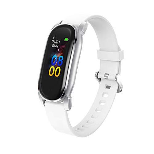 Smartwatch,Zeerkeer Pulsera Actividad Inteligente Impermeable IP68 Inteligente Reloj Deportivo Pantalla Táctil Completa con Pulsómetro Cronómetro Pulsera Deporte para Hombres Mujeres (20B04354-white)