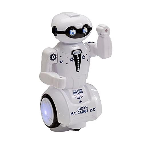 Rite Lite Maccabot 2.0 Chanukah Robot - Great Hanukkah Gift for Kids! - Hanukkah Robot Toy Plays 3 Chanukah Songs