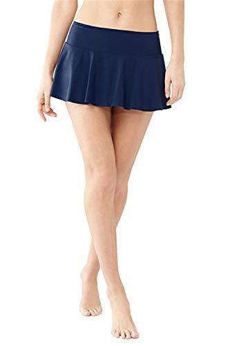 Elodiey Damen Badeshorts Bikini Rock Rock Strand Integrierter Hose Mit Business Hohe Taille Mini Bikinihosen Bottom Mit Short (Color : Royal Blue, Size : L)