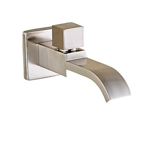 Rozin nichel spazzolato a parete per lavabo singolo acqua fredda rubinetto della cucina, S902