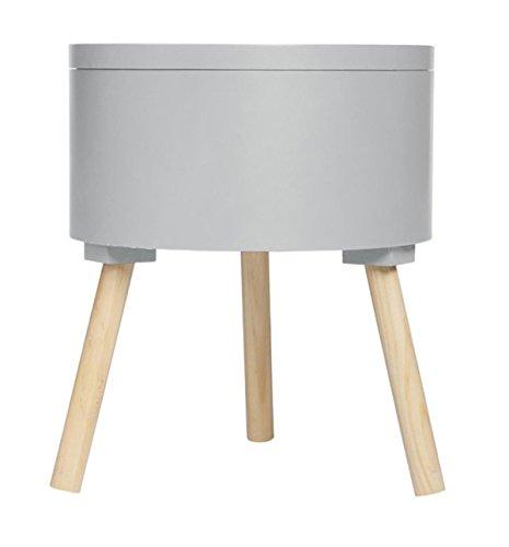PEGANE Table café avec Coffre de Rangement Gris - Dim : L38 x l38 x H45 cm