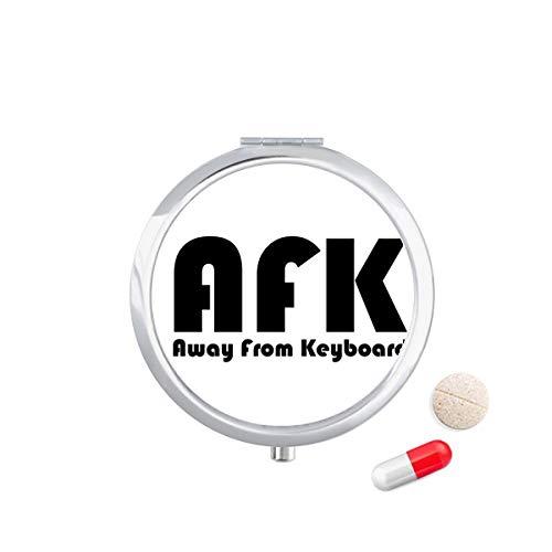 DIYthinker citaat weg van toetsenbord Travel Pocket Pill Case Medicine Drug Opbergdoos Dispenser Spiegel Gift