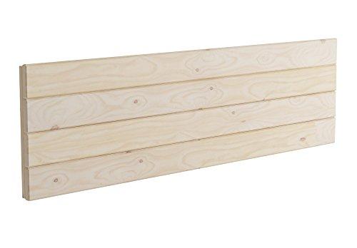 Lufe Testa 4 Cabecero de Pared, Madera, Pulido, 160x4x44 cm