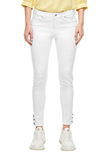 Q/S designed by - s.Oliver Damen Skinny Fit: Weiße 7/8-Jeans White 44