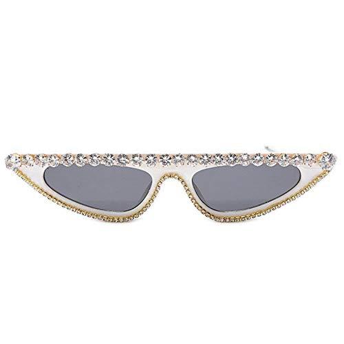 Gafas de sol de las mujeres de gran tamaño Rhinestone Gafas de sol de las Mujeres Steampunk Diamante Gafas de Sol Plaza Punk Gafas de Graduado Hecho a Mano Gafas