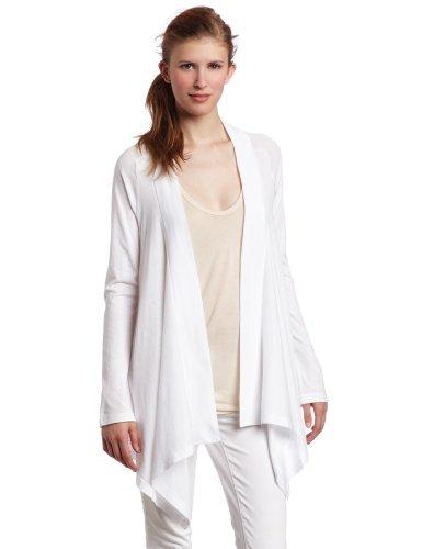 Splendid Women's Very Light Jersey Drape Cardigan, White, Large