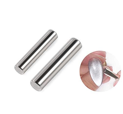 Shogpon 2 Stück Hochwertiger Magnet Stick Magnetstift-Set für Perfekten Katzenaugen Effekt, DIY Nagelkunstwerkzeuge Verwendung mit 3D Magnetic Cat Eye Gel Nagellack oder Pulver