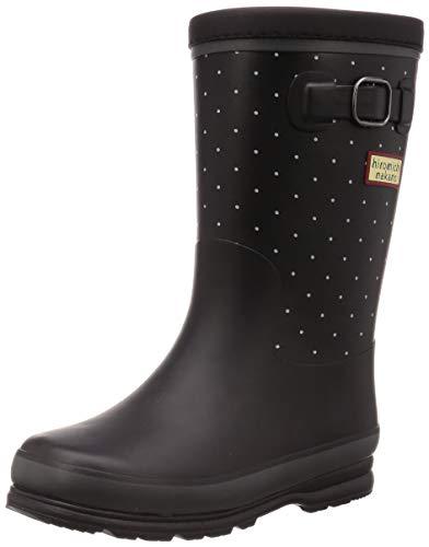[ヒロミチナカノ] レインブーツ 靴 防寒 防滑 ゆったり 19~23cm キッズ HN WJ172R ブラックドット 19 cm 2E