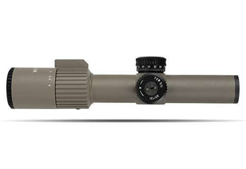 Monstrum Alpha Series 1-4x24 First Focal Plane FFP Rifle Scope with MOA Reticle   Flat Dark Earth