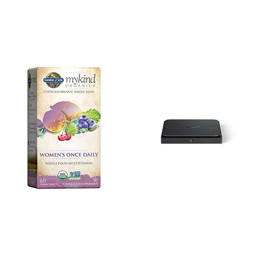Garden of Life Multivitamin for Women - mykind Organics Women's Once Daily Multi - 60 Tablets, Whole Food Multi with Iron, Biotin + Amazon Dash Smart Shelf (Small - 7
