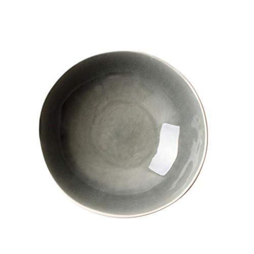 Bols à céréales Vaisselle en céramique Creative Vaisselle Salade de fruits Maison Rice Dessert Bol à soupe 10,3 pouces (Couleur : Gray)