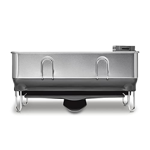 simplehuman Kitchen Compact Steel Frame Dish Rack with Swivel Spout...